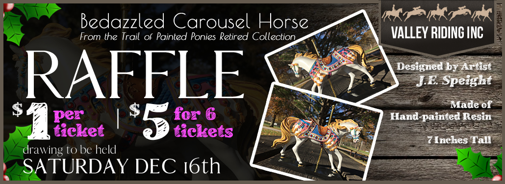 Bedazzled Carousel Horse Raffle!