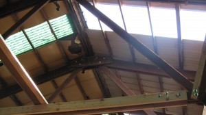 The new skylights are wider and clear, letting in more natural light.