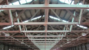 The structure of the roof has been reinforced for the process.